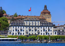 City of Lucerne in Switzerland in springtime Royalty Free Stock Image