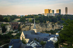 City of Luxembourg Royalty Free Stock Images
