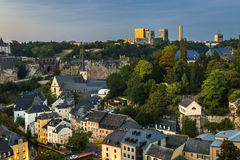 City of Luxembourg Royalty Free Stock Photos