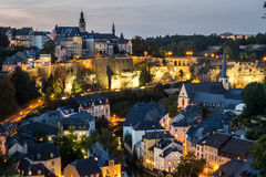 City of Luxembourg Royalty Free Stock Photo