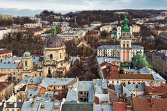 City Lviv in Ukraine Stock Photo