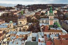 City Lviv in Ukraine Stock Photo