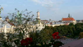 The city Lviv in Ukraine. Panoramic view of the city Lviv in Ukraine Stock Photo