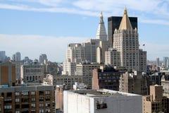 city majestic new skyline york 免版税库存图片
