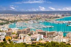 City  in Majorca Balearic island Stock Photography