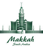 City of Makkah Saudi Arabia Famous Buildings Stock Images