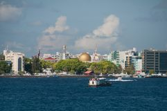 The city of Male on the same island of the atoll of Kaafu, Maldives. City Male on the same island of the atoll of Kaafu, Maldives Stock Image