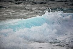 Big wave in the City of Mali Losinjstrong wind on the sea Stock Image