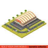 City mall supermarket tent sale flat isometric vector building Stock Images