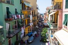 City MANAROLA, Italy , National Park Cinque Terre , Liguria , It Stock Image