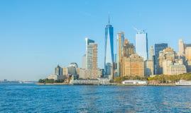 city manhattan new skyline york ΗΠΑ Στοκ εικόνα με δικαίωμα ελεύθερης χρήσης