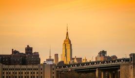 city manhattan new york ΗΠΑ Στοκ Φωτογραφίες