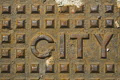 City Manhole Cover Stock Photos