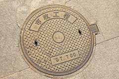 City manhole covers Stock Images