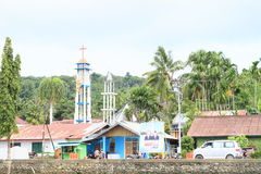 City Manokwari with two churches Royalty Free Stock Image