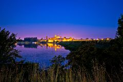 City of Mantova skyline evening view. European capital of culture and UNESCO world heritage site, Lombardy region of Italy Stock Images
