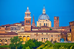 City of Mantova skyline view. European capital of culture and UNESCO world heritage site, Lombardy region of Italy Stock Photos