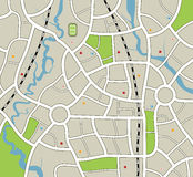 City map Royalty Free Stock Photos