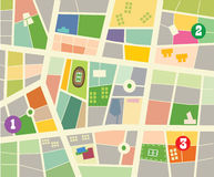 City map. Abstract vector city map design Stock Photography