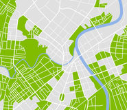 City map. Editable vector street map of town. Vector illustration Stock Photography