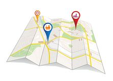 City map Stock Photography