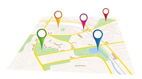 City map Stock Images