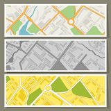 City map abstract horizontal banners vector Stock Images