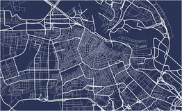 City Map of Amsterdam, Netherlands. Vector map of the city of Amsterdam, Netherlands Stock Images