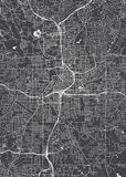City Map Atlanta, Monochrome Detailed Plan, Vector Illustration Royalty Free Stock Images