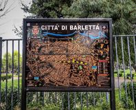 City map of Barletta Italy royalty free stock photos
