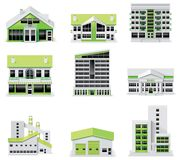 City map creation kit (DIY). Part 1. Buildings Stock Photos