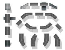 Сity map creation kit (DIY).  Part 4. Bridges Stock Images