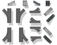 Сity map creation kit (DIY).  Part 5. Bridges Royalty Free Stock Images
