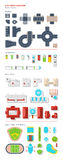 City Map Creator Top View. City map creator of top view elements grouped by roads transport buildings and additional objects vector illustration Stock Photos