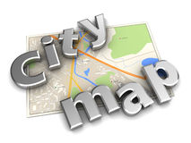 City map Stock Image