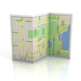 City map 3d illustration Royalty Free Stock Photos