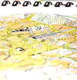 City map. Detail of a city map Stock Image