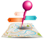 A city map with digital satellite gps pin point with colorful ba Stock Photo