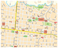 City map of downtown San Jose, Costa Rica.  vector illustration