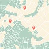 City map Royalty Free Stock Photo