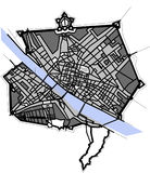 City Map of Florence, Italy. Vector map of the city of Florence, Italy Royalty Free Stock Photography