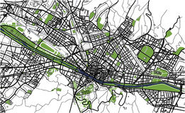 City Map of Florence, Italy. Vector map of the city of Florence, Italy Stock Photography