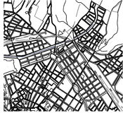 City Map of Florence, Italy. Vector map of the city of Florence, Italy Royalty Free Stock Image