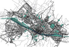 City Map of Florence, Italy. Vector map of the city of Florence, Italy Stock Photo
