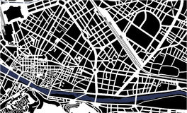 City Map of Florence, Italy. Vector map of the city of Florence, Italy Stock Photos