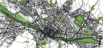 City Map of Florence, Italy. Vector map of the city of Florence, Italy Stock Image