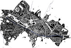 City Map of Florence, Italy. Vector map of the city of Florence, Italy Stock Images