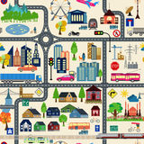 City map generator. City map example. Elements for creating your Royalty Free Stock Photos