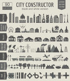 City map generator. Elements for creating your perfect city. Bla Stock Photos