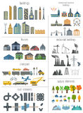City map generator. Elements for creating your perfect city. Col. Our version. Vector illustration Stock Images
